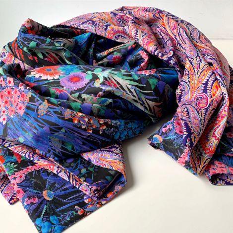 dwustronny szal z bawełny Tana Lawn™
