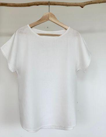 bluzka z białego lnu